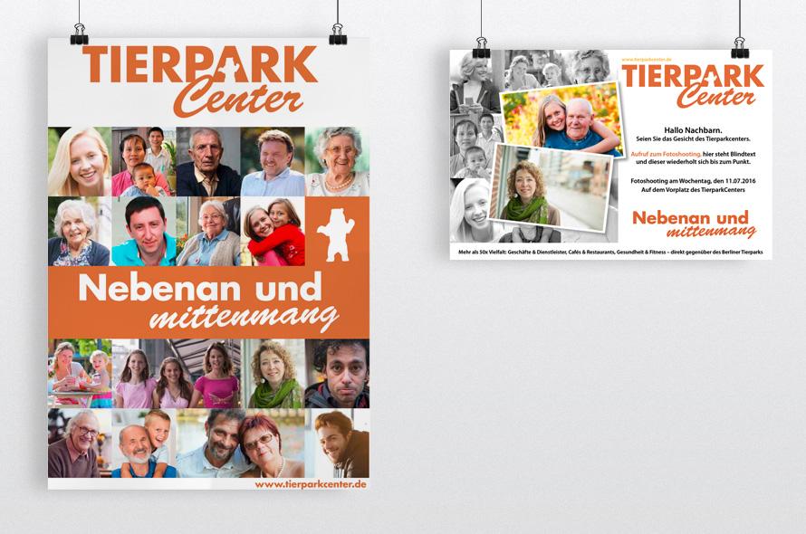 Konzept und Gestaltung Marketingmaterial Tierparkcenter Berlin Friedrichsfelde