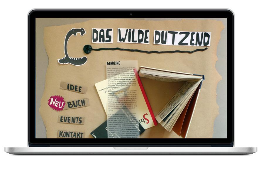 Idee und Konzept Webseite, Screendesign