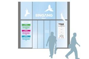 Gestaltung des Eingangbereichs für das Tierpark Center, Shoppingcenter