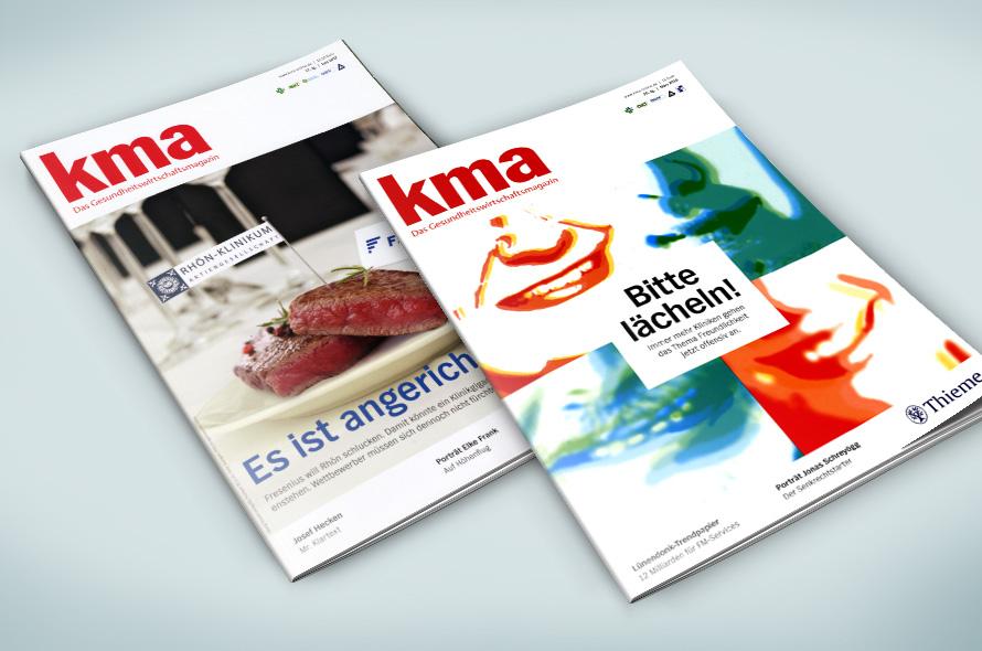 Cover Gestaltung Gesundheitsmagazin kma