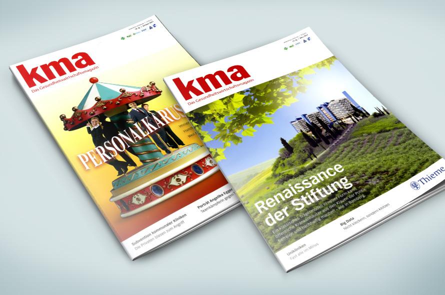 Cover Bildkompositionen Gesundheitsmagazin kma