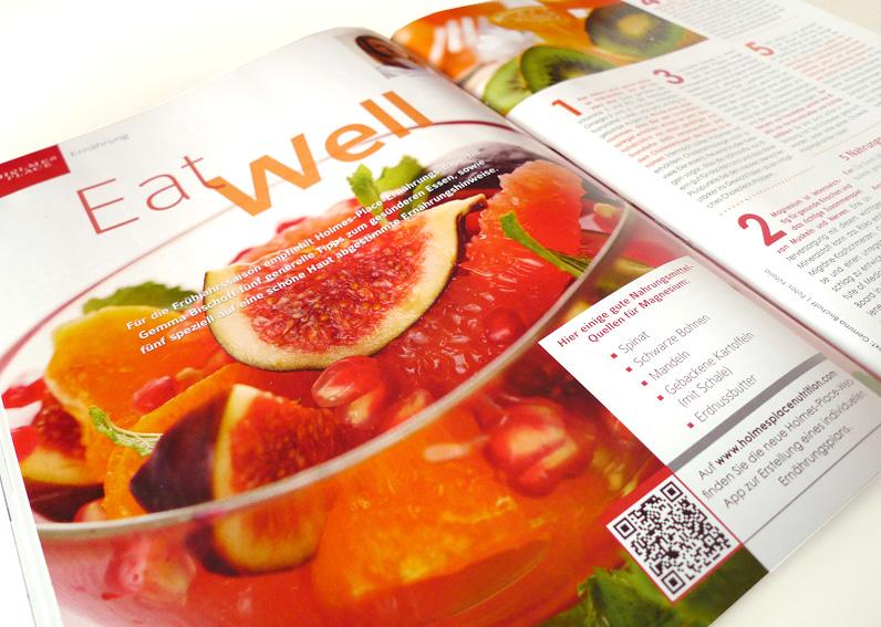 Gestaltung für Kundenmagazin Holmes Place