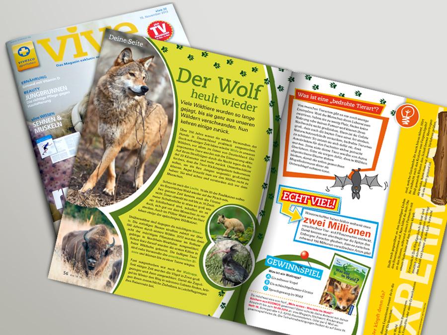 Konzept und Gestaltung Kindermagazin