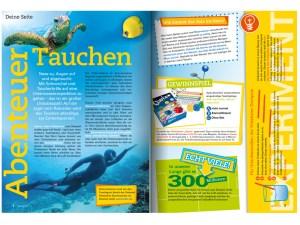 Kinderseite für Apotheken Kundenzeitschrift vive