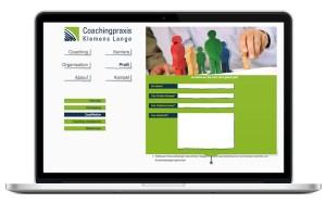 Kontaktformular Webseite für Coachingpraxis Klemens Lange