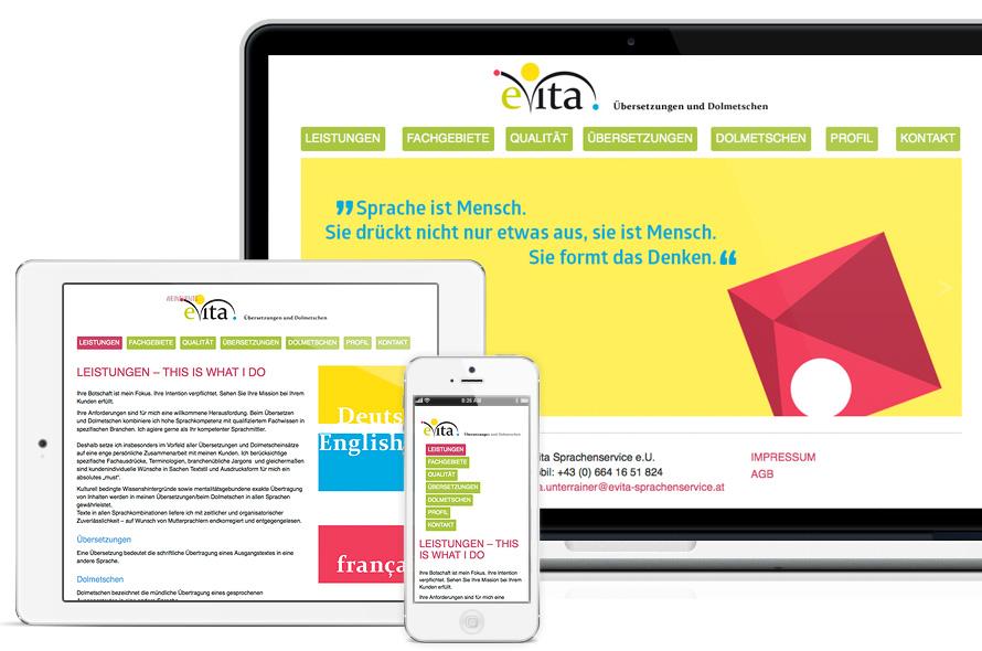 Webseite für eien Übersetzerin, Österreich