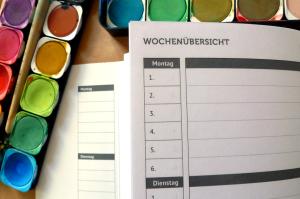 Logbuch Wochenübersicht Schulfarm Insel Scharfenberg