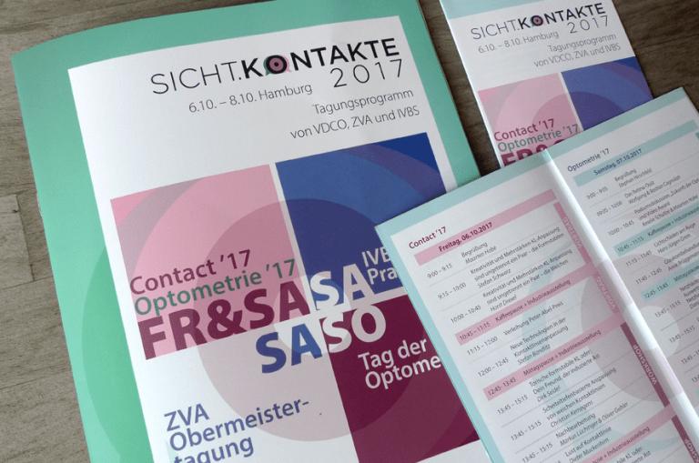 Gestaltung einer Programm Broschüre