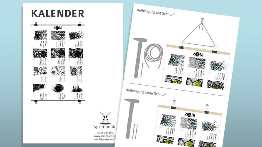 Gebrauchsanleitung für die Aufhängung des Kalenders 2018, Side Project
