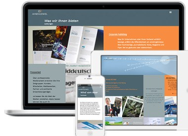 Gestaltung Website mit Wordpress