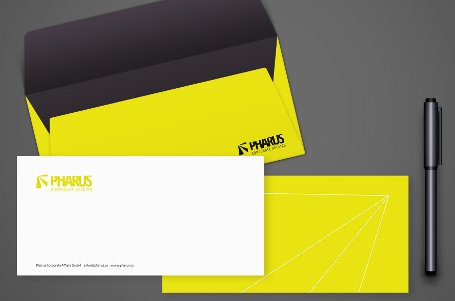 Idee, Entwicklung, Gestaltung Briefschaft, Corporate Design