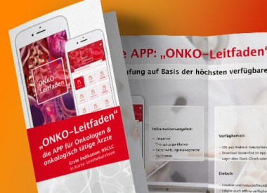 Flyer für ONKO-App, Kommunikationsmaterial, Messematerial, Flyer, Teaser