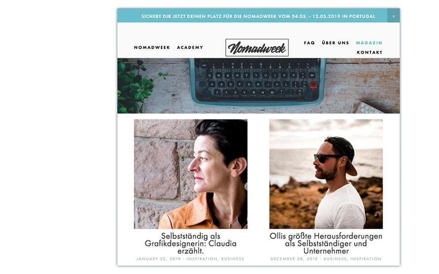 Artikel über Selbständigkeit auf nomadweek
