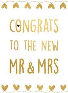 Wonderbaarlijk HUWELIJK FELICITATIE ENGELS | Engelse huwelijksfelicitaties. ZV-42