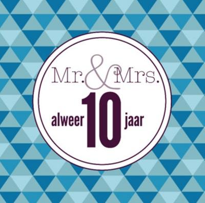 Spreuk 10 jaar getrouwd