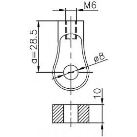Sprężyna gazowa (FA Krosno 24424) AUDI A4 (8D2,B5), A4