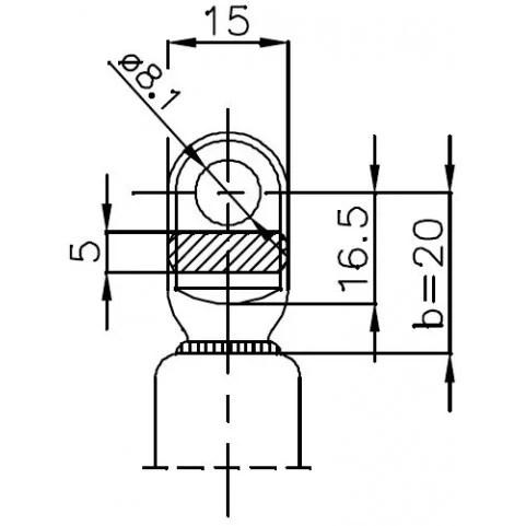 Sprężyna gazowa (FA Krosno 21069) CITROEN Visa klapy
