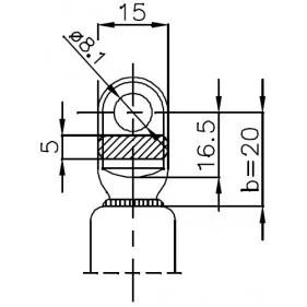 Sprężyna gazowa (FA Krosno 21346) FIAT Ritmo Bertone