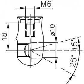 Sprężyna gazowa (FA Krosno 21559) FIAT Seicento klapy