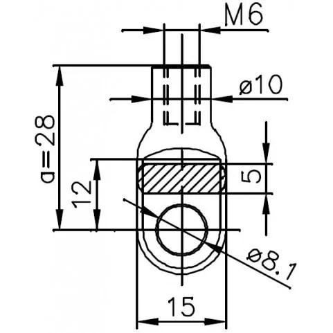 Sprężyna gazowa (FA Krosno 21059) FIAT Strada klapy
