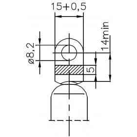 Sprężyna gazowa (FA Krosno 31776) FIAT Barchetta (183