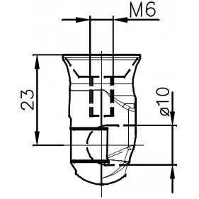 Sprężyna gazowa (FA Krosno 23632) FIAT Doblo II (152,263