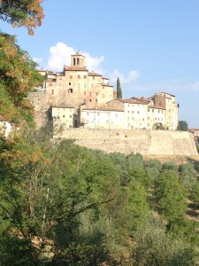 View of Anghiari from our favorite walk