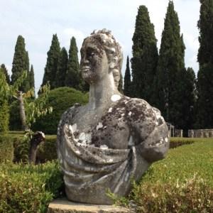 in the garden at Badia Passignano