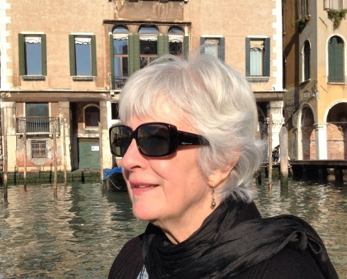Myra enjoying the view on the Grand Canal