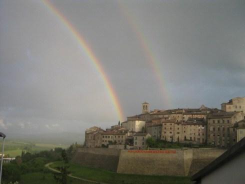 Double rainbow over Anghiari