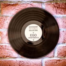 Vinyl Record Wall 01 by Spring and Gears