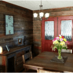 Feature wall with Barnwood finish