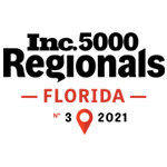Number 3 fasting growing company in Florida, 99th in the country