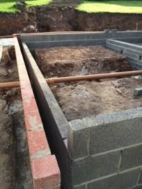 Brick work before block and beam 6
