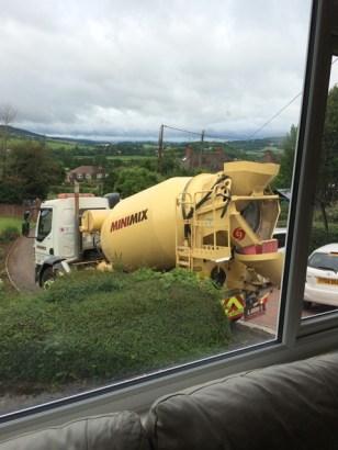 concrete mixer arriving 3