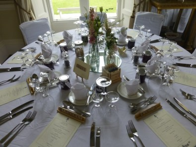 Wedding Table Jams as favours for every guest