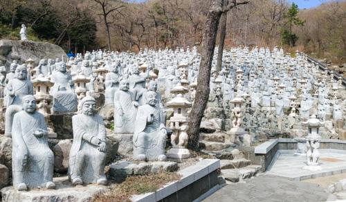 Buddha Statues behind Sammilsa Temple