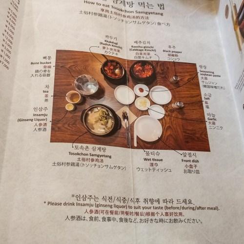 Manual to eat your Samgyetang