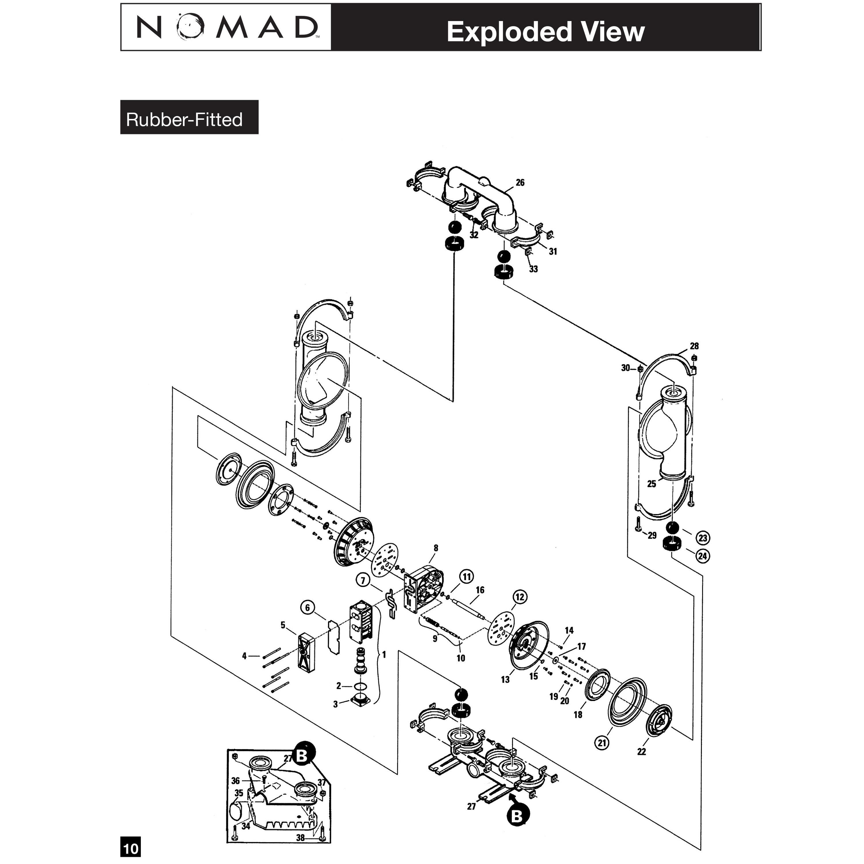 3 PWR-FLO AODD Pump,NPF80/SAAP/FG/FG/FG/N/C, Stainless