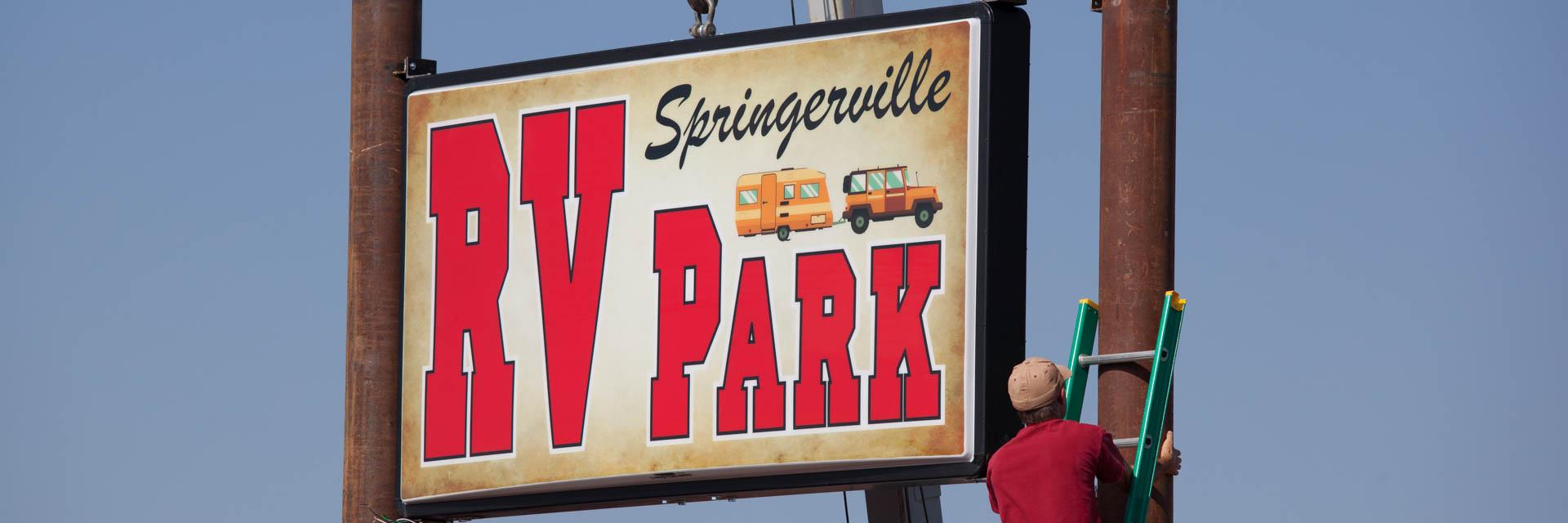 Arizona White Mountain RV Camping Springerville RV Park