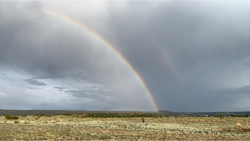 Springerville RV Park Rainbow in September Arizona