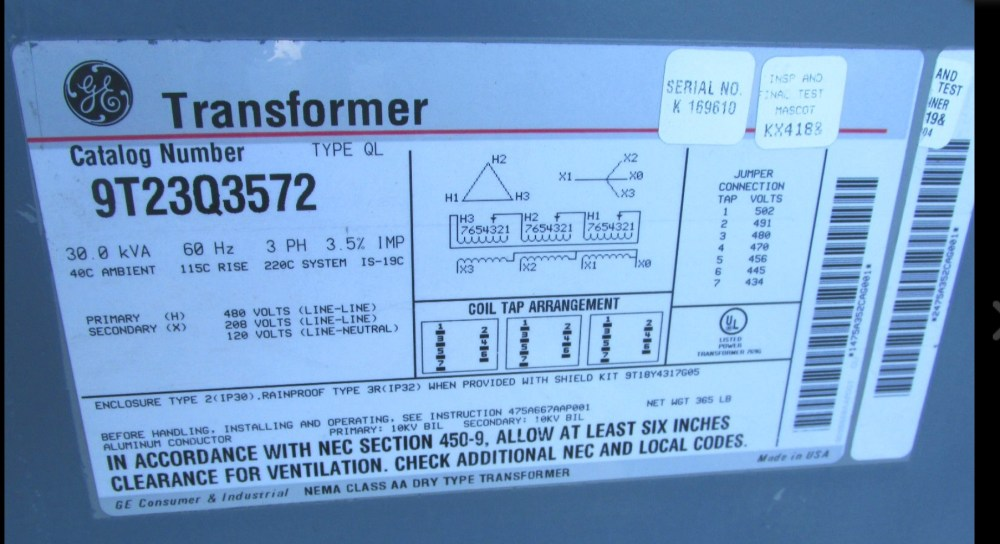 medium resolution of  and get our 480 from the primary we take 208v 3 ph from a 100 amp breaker in the main breaker box the transformer is the only load on that breaker