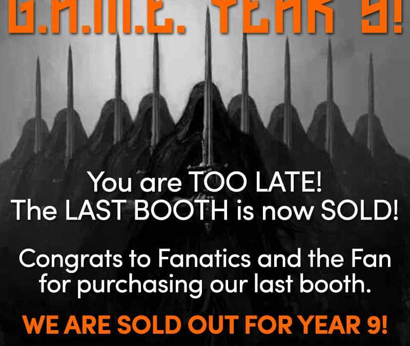 EXHIBITORS BOOTHS SOLD OUT!