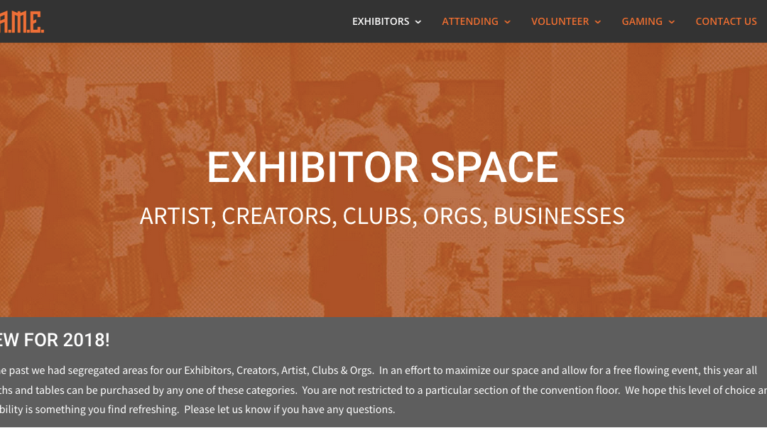 EXHIBITOR SPACES NOW OPEN TO PUBLIC