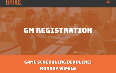 GAME SCHEDULING DEADLINE – 9/24/18!!!