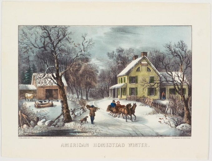 American Homestead Winter Currier Amp Ives Springfield