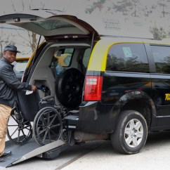 Yellow Wheelchair Office Chair For Back Pain Cabs Accessible Taxi Springfield Cab