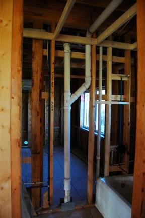 Downstairs plumbing.