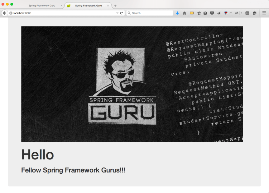 spring boot web page