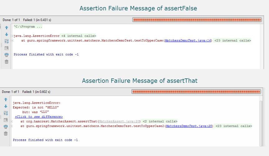 Assertion Failure Messages